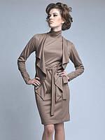 Короткое платье с воротником-стойка с имитацией жакета