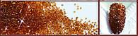 Стразы, хрустальная крошка 1.3 ± 0,1 мм, пикси, упаковка 1440 шт. Стразы, Для маникюра, кофе, 1