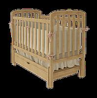 Кроватка Woodman Teddy с ящиком, натуральная
