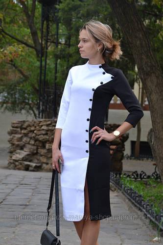Платье женское футляр с пуговицами