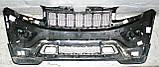 Декоративно-захисна сітка радіатора Jeep Grand Cherokee 2013 - фальшрадіаторная решітка, бампер, фото 4