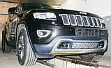 Декоративно-защитная сетка радиатора Jeep Grand Cherokee 2013- фальшрадиаторная решетка, бампер, фото 8