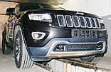 Декоративно-защитная сетка радиатора Jeep Grand Cherokee 2013- фальшрадиаторная решетка, бампер, фото 7