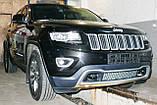 Декоративно-захисна сітка радіатора Jeep Grand Cherokee 2013 - фальшрадіаторная решітка, бампер, фото 5