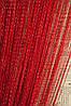 Кисея шторы-нити Дождь красные (17)