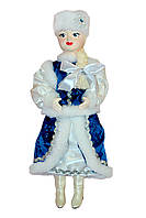 """Кукла сувенирная """"Снегурочка"""" в роскошном синем наряде и шапочке"""