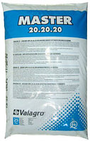 Удобрение с микроэлементами Мастер Master 20.20.20 хелатное 25 кг Valagro