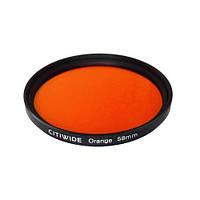 Цветной фильтр 58мм оранжевый, CITIWIDE