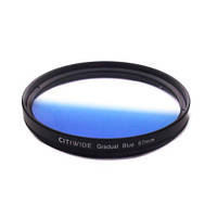 Цветной фильтр 67мм синий градиент, CITIWIDE