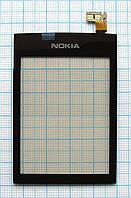 Тачскрин сенсорное стекло для Nokia 300 Asha High Copy black