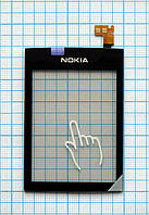 Тачскрин сенсорное стекло для Nokia 300 Asha Original black