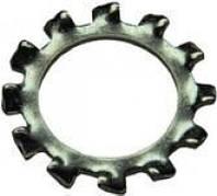 Шайба DIN 6797 J пружинная зубчатая ф.10, ГОСТ 10463-81, нержавеющая А2, фото 1