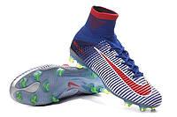 Футбольные бутсы Nike Mercurial Superfly V FG Blue Tint/Racer Blue/Volt/Bright Crimson, фото 1
