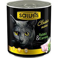 Мясные консервы для кошек Salutis Rabbit&Carrots с кроликом, 360г
