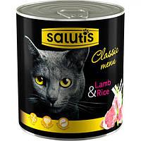 Мясные консервы для кошек Salutis Lamb & Rice, с ягнятиной, 360г