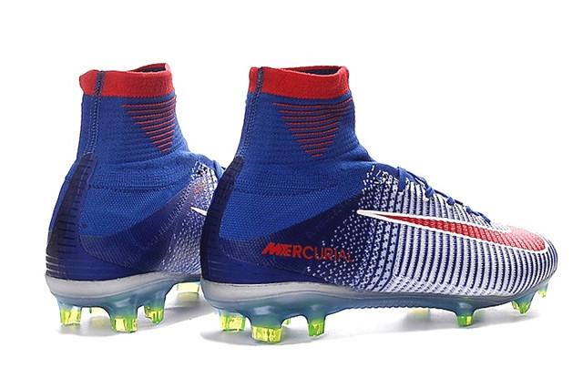 Футбольные бутсы Nike Mercurial Superfly V FG Blue Tint/Racer Blue/Volt/Bright Crimson