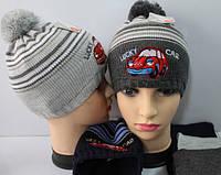 Детская шапка с шарфом оптом 50 - 52 размер