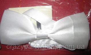Бабочка -галстук белая
