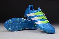 Футбольные бутсы adidas ACE II 15.1 FG Shock Blue/Semi Solar Slime/White, фото 1