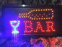 """Вывеска светодиодная """"BAR"""" Бар. 48 х 25 см., фото 1"""