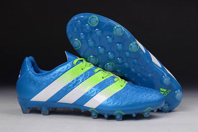 Футбольные бутсы adidas ACE II 15.1 FG Shock Blue/Semi Solar Slime/White