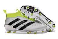 Футбольные бутсы adidas ACE 16+ PureControl FG Silver Metallic/Core Black/Solar Yellow, фото 1