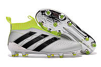 Футбольные бутсы adidas ACE 16+ PureControl FG Silver Metallic/Core Black/Solar Yellow