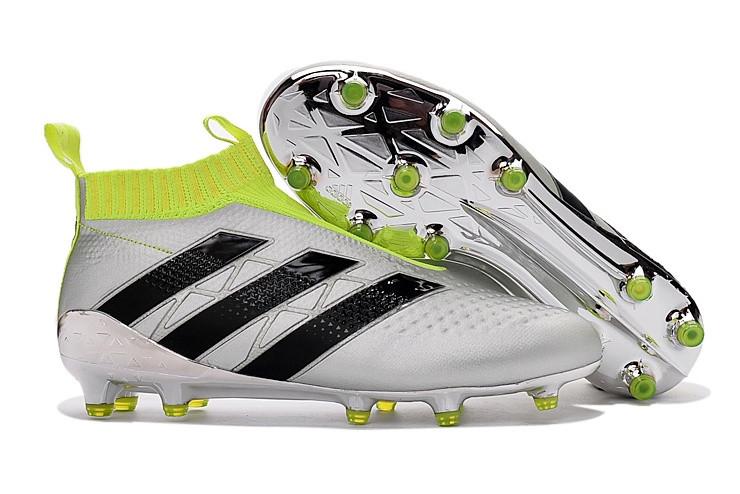 291cf312 Футбольные бутсы adidas ACE 16+ PureControl FG Silver Metallic/Core  Black/Solar Yellow