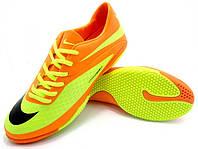 Детские футзалки (бампы) Nike HyperVenom Phelon IC Orange/Yellow/Black, фото 1