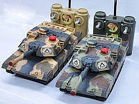Танковый бой 558 Huan Q. Огромные танки на радиоуправлении. 2 пульта, 2 танка, зарядное устройство