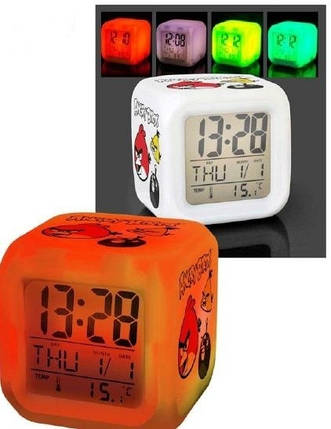 Настольные часы-будильник - хамелеон LED, фото 2