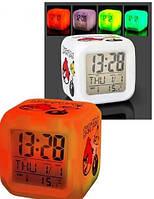 Светящиеся часы будильник - хамелеон Angry Birds