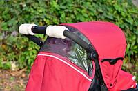 Прихватки на ручку коляски на флисе, фото 1