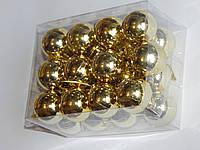 Игрушка (Шарик) новогодняя 3 см 24 шт  6 цветов