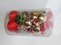 Набор игрушки новогодней  для украшения елки 20шт, 4 см, фото 1