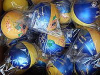 """Игрушка (Шарик) """"Украина"""" новогодняя 8 см  с росписью  для украшения елки"""