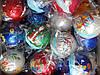 Игрушка (Шарик) С  росписью в ассортименте новогодняя 8 см  с росписью  для украшения елки