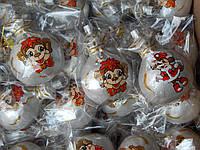 Игрушка (Обезьяна в мешке) С ручной росписью  новогодняя  с росписью  для украшения елки