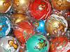 Игрушка (Шарик) новогодняя 10 см  с росписью обезьяны для украшения елки