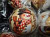 Игрушка (Шарик)  новогодняя 10 см  с росписью  для украшения елки