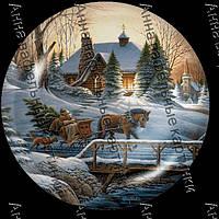 Вафельная картинка снежный пейзаж