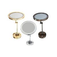 Зеркало макияжное с LED подсветкой хром