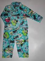 """Детская махровая пижама """"Angry Birds"""" , рост 110/116 см"""