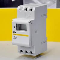 Таймер ТЭ 15 цифровой 16А 230В на DIN-рейку IEK