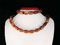 Набор из коричневого авантюрина, керпичик, фото 1