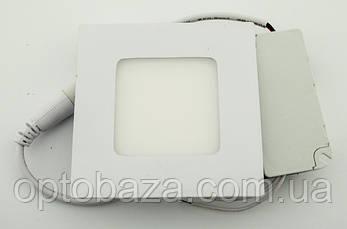 Встраиваемый led светильник 3Вт 4000К (84х84х17 мм), фото 2