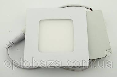 Встраиваемый led светильник 3Вт 4000К (84х84х17 мм)