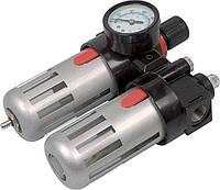 Фильтр воздушный с редуктором, смазывающим прибором и манометром Miol 81-430 1/2