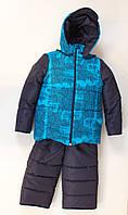 Утепленный удобный зимний комбинезон для мальчика