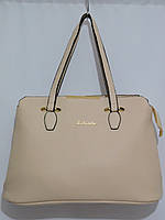 Женская светлая сумка крем, фото 1